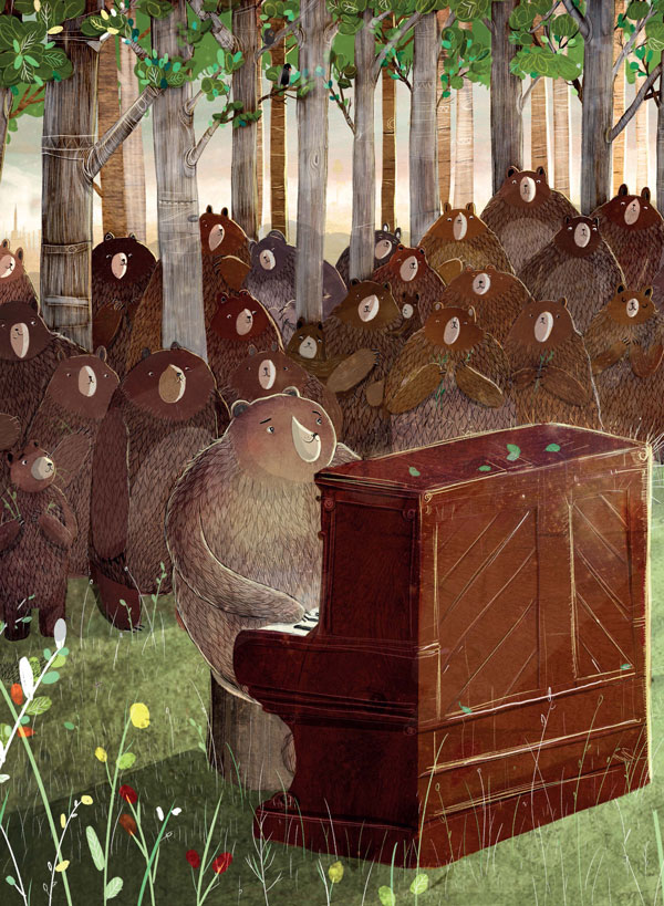 "David Litchfield, ""El oso y el piano"""