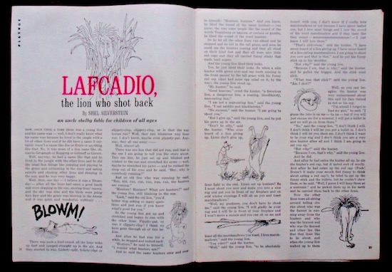 """Lafcadio, the Lion Who Shot Back"", tal y como apareció originalmente en la revista Playboy"