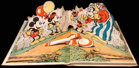 The pop-up Mickey Mouse. Blue Ribbon, 1933