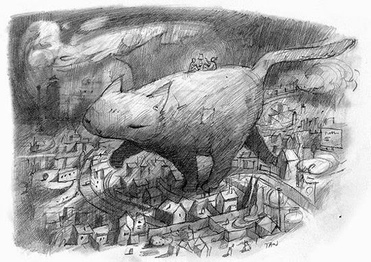 Shaun Tan: Giant cat